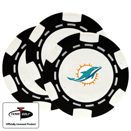 Classic Miami Dolphins Poker Chips - 3 Pack