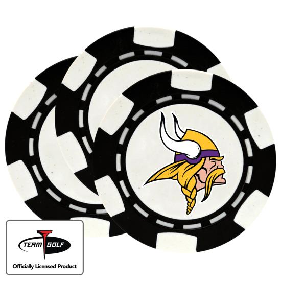 Classic Minnesota Vikings Poker Chips - 3 Pack