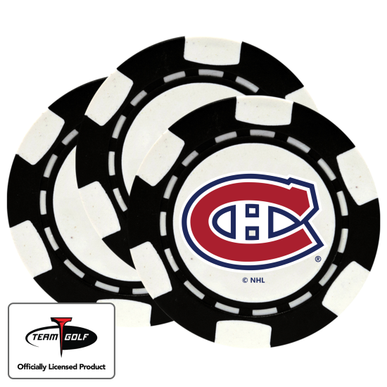 Classic Montreal Canadiens Poker Chips - 3 Pack