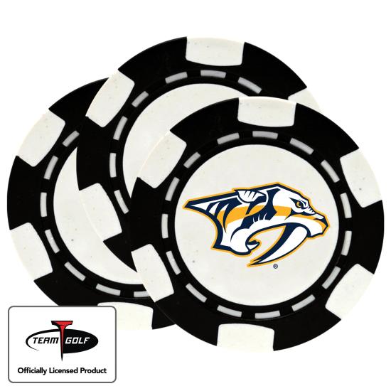 Classic Nashville Predators Poker Chips - 3 Pack