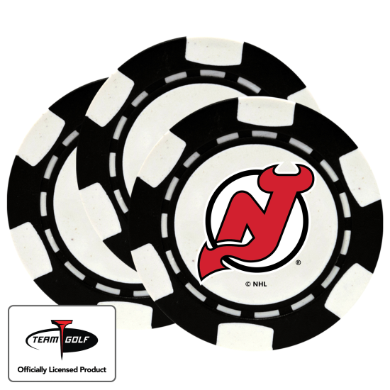 Classic New Jersey Devils Poker Chips - 3 Pack