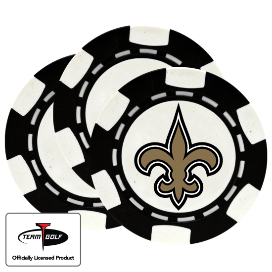 Classic New Orleans Saints Poker Chips - 3 Pack