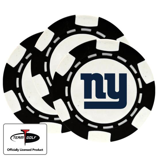 Classic New York Giants Poker Chips - 3 Pack