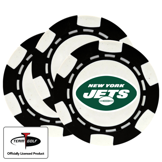 Classic New York Jets Poker Chips - 3 Pack