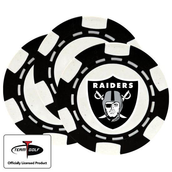 Classic Oakland Raiders Poker Chips - 3 Pack