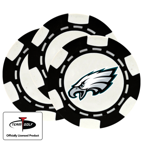 Classic Philadelphia Eagles Poker Chips - 3 Pack