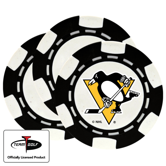 Classic Pittsburgh Penguins Poker Chips - 3 Pack