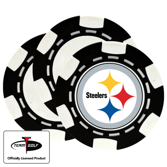 Classic Pittsburgh Steelers Poker Chips - 3 Pack