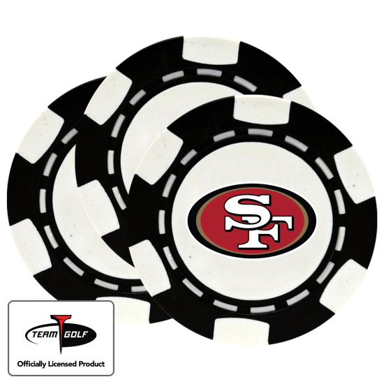 Classic San Francisco 49ers Poker Chips - 3 Pack