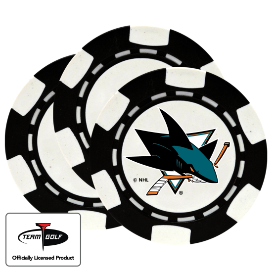 Classic San Jose Sharks Poker Chips - 3 Pack
