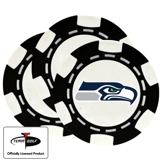 Classic Seattle Seahawks Poker Chips - 3 Pack
