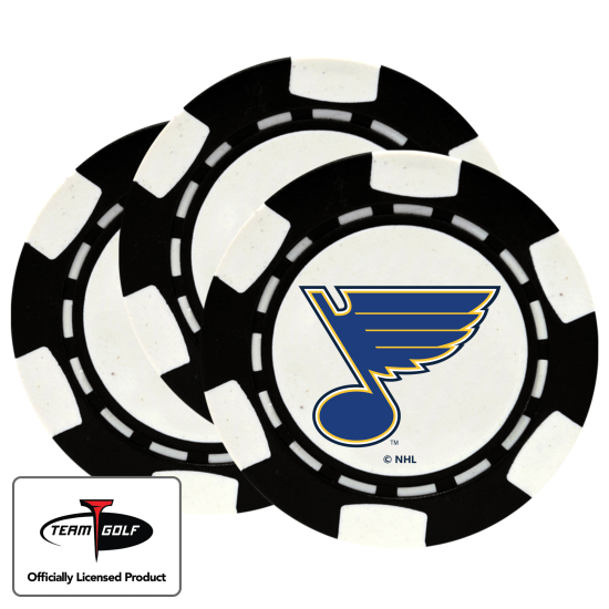 Classic St. Louis Blues Poker Chips - 3 Pack