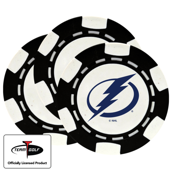 Classic Tampa Bay Lightning Poker Chips - 3 Pack