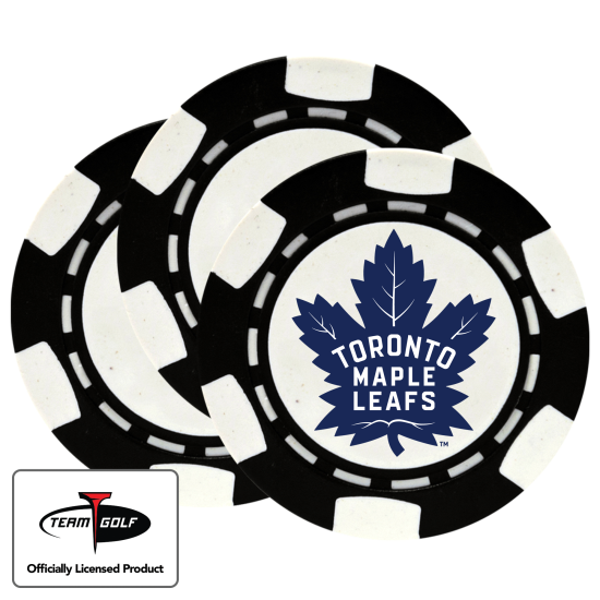 Classic Toronto Maple Leafs Poker Chips - 3 Pack