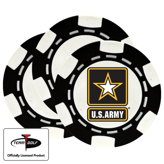 Classic US Army Poker Chips - 3 Pack