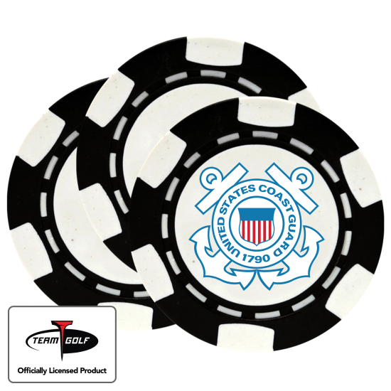 Classic US Coast Guard Poker Chips - 3 Pack