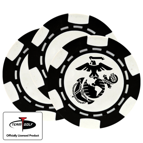 Classic US Marine Corps Poker Chips - 3 Pack