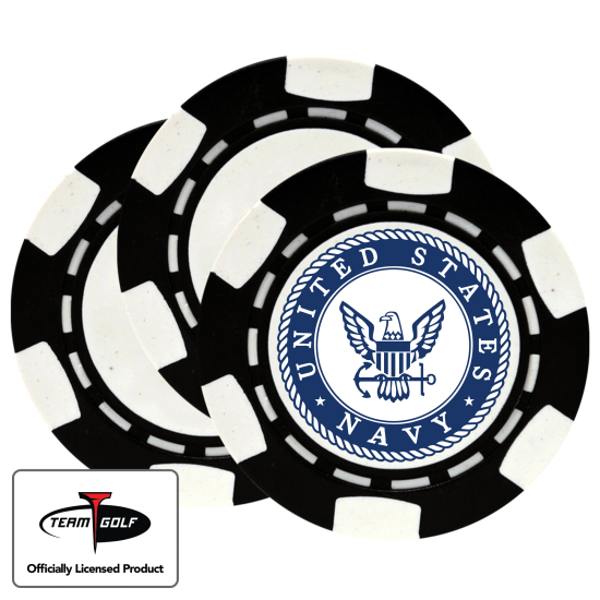 Classic US Navy Poker Chips - 3 Pack