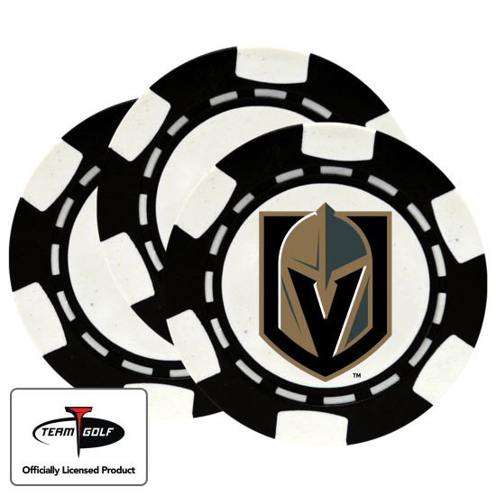 Classic Vegas Golden Knights Poker Chips - 3 Pack