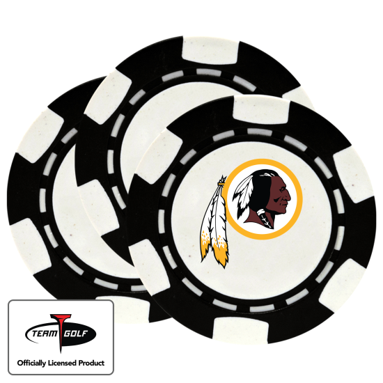 Classic Washington Redskins Poker Chips - 3 Pack